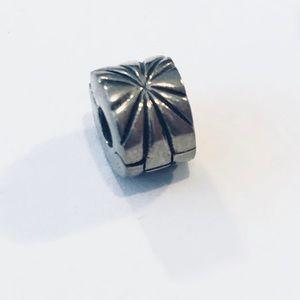 Pandora Sterling Silver Sunburst Clip, Charm